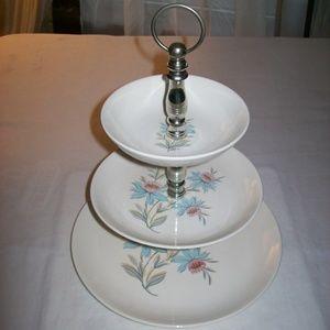 Vintage 1950's Steubenville Pottery 3 Tier Plate